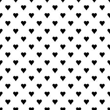ハート柄の背景透過pngイラストパターン素材黒色モノクロ