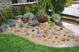 decorate garden with pebbles and stones