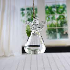 Прозрачная стеклянная <b>ваза в форме</b> ангела для подвешивания ...