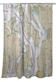 Wa Puget Sound Northern Wa Nautical Chart Shower Curtain