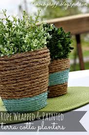 how to make rope wrapped pots via housebyhoff com