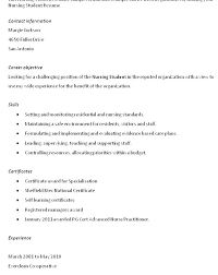 Career Objective For Nursing Resume Twnctry