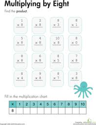 8 Multiplication Chart Multiplying By Eight Worksheet Education Com