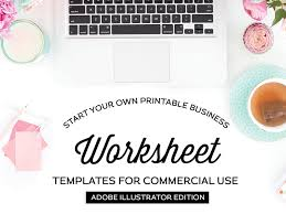 Worksheet Templates For Illustrator Free Download By