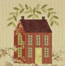 Autumn House - Applique Quilts - Patterns & Closeup; Autumn House Pattern Back Adamdwight.com
