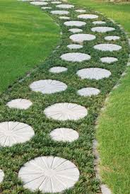 garden landscaping ideas. Add This Idea To Your Cheap Garden Landscaping Ideas Bank! Not Only Are Stepping Stone Paths Adorable, But They Can Actually Prove Be Quite Useful.