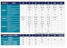 Kobe Sportswear Size Chart Sizing Guides