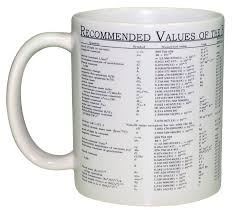 Physics Chart Wraparound Coffee Or Tea Mug