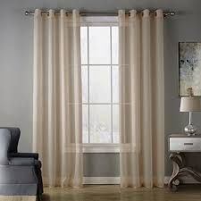 homeyho semi sheer curtain panels