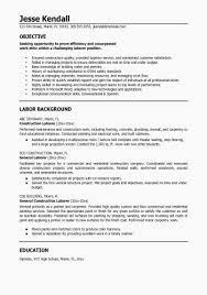Sample Construction Resume Elegant Laborer Resume Examples Examples
