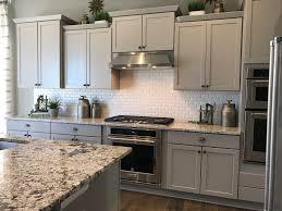 backsplash for bianco antico granite. Merillat Portrait Shale Cabinets With Bianco Antico Granite And Vogue 2x4\ Backsplash For -