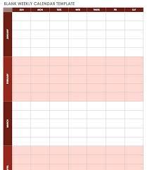 Weekly Appointment Calendar Excel Blank Week Template Weekly Appointment Calendar Free Excel Templates