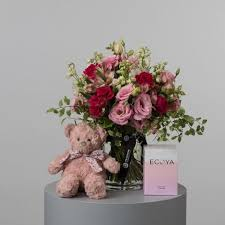 pearsons florist flowers teddy and candle