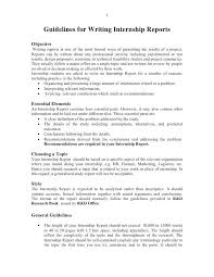 Word Report Format Internship Report Template Doc Report Format Example Word And