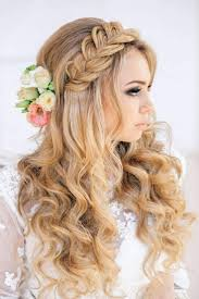 Hairstyle Tresses Coiffure Mariage Romantique Cheveux