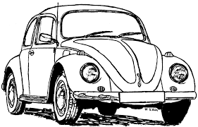 Vw beetle drawing