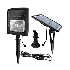 Gama Sonic Solar Security Light Gama Sonic Solar Powered Flood Light Warm White Leds Outdoor Stake Or Flat Mount Black Gs 203