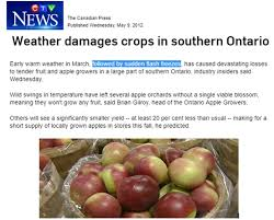Warning For Canada East Coast Agriculture In Danger From