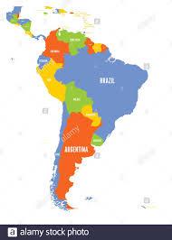Map Peru Ecuador Colombia Venezuela Fotos e Imágenes de stock - Alamy
