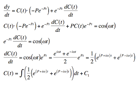 solution of the first order linear non geneous equations variations of constants method