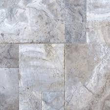 silver travertine versailles pattern tiles honed 8 sq ft
