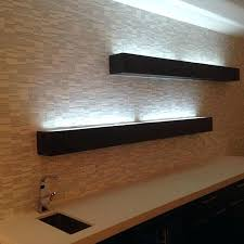 floating shelves with lights floating shelves with glass top with led lighting to showcase the bottles in your bar area floating glass shelves with led