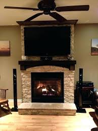 living room best mounting tv over fireplace above gas install brick pertaining to a remodel haverty