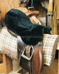 sheepskin saddle seat cover