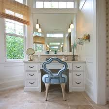 bathroom vanity table and chair. furniture inspiring bathroom vanity table and chair with white painted drawers including wrought iron pull handles r