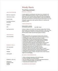 Resume Teaching Assistant Sample Teacher Assistant Resume Physic