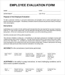 Employee Evaluation Form Template 13 Free Word Pdf