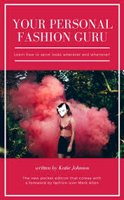 red and white bordered photo fashion book cover