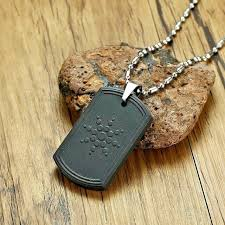 quantum scalar energy bio science pendant necklace for men dog tag japanese