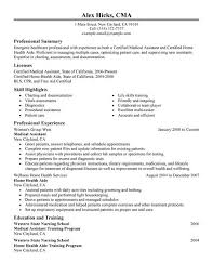 Resume Template For Medical Field Professional Health Care Resume Sample  Displaying Summary And