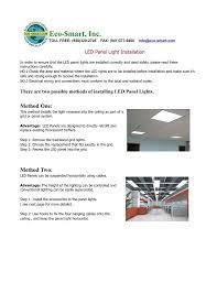 Advantage Lighting System Eco Mart Inc Led Panel Light Installation Manualzz Com