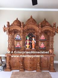 Wooden Temple Designs Pictures Swaminarayan Wooden Mandir For Home Temple Design For Home