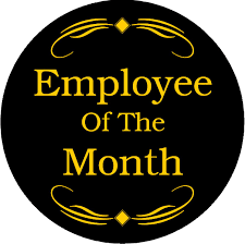 Employee Of The Month Trophy Employee Of The Month Award Emblem