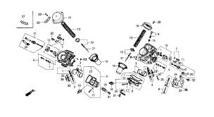 honda shadow carburetor hose diagram honda image 2001 honda shadow spirit 750 vt750dc carburetor component parts on honda shadow carburetor hose diagram