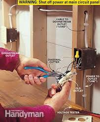 how to install gfci receptacle outlets the family handyman photo 1 remove the outlet