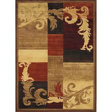 home dynamix canyon brown 5 ft 2 in x 7 indoor area rug