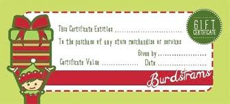 Christmas Gift Card Template Certificates Templates For Word Blank