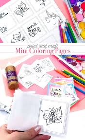 Print And Color Mini Coloring Pages 100 Directions