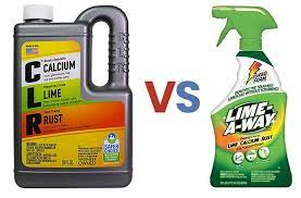 clr vs lime away which cleaner is more