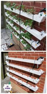 diy hydroponic vertical pallet strawberry planter tutorial