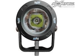 vision x lighting 3 optimus round series led spot in black housing