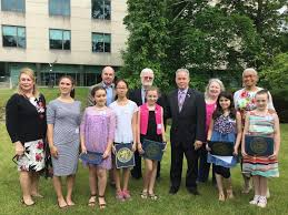 students from suffern nanuet nyack honored in environmental front gillian ballard nicole laible anna moetzinger emma chin alyssa weinstein rockland county executive ed day kierra devine and caroline brennan