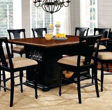 transitional table furniture of pt transitional black and cherry finish counter height table transitional kitchen table and chairs