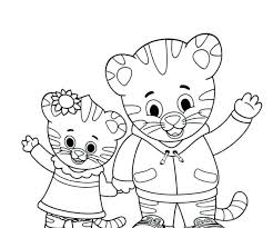 Coloring Pages Daniel Tiger Coloring Pages To Download And Print