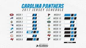 Panthers Jersey Schedule 2017