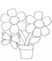 Small Picture simple flower coloring page with butterfly for kids Flower